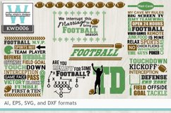 BUNDLED Football Cutting Files KWD006 Product Image 1