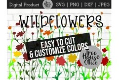 Wildflower Floral Botanical Hand Drawn SVG PNG JPG DXF Product Image 1