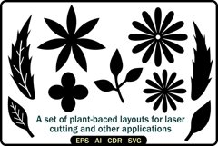 A set of plant-baced layouts Product Image 1
