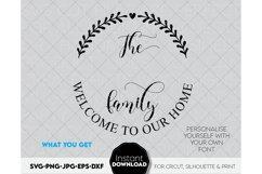 Monogram SVG, Family name SVG, Family svg, Last name svg Product Image 2