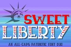 Sweet Liberty - An All-Caps Patriotic Font Duo Product Image 1