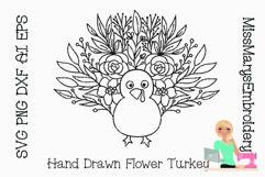 Flower Turkey SVG | Turkey SVG | Thanksgiving SVG | Flowers Product Image 1