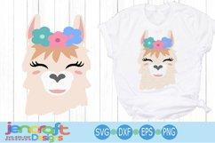 llama face svg, alpaca svg, llama bundle svg, Eyelashes Head Product Image 2