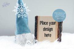 Christmas Gnome Wood Slab Mock Up Product Image 1