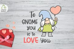Girl gnome svg Valentine sublimation gnomes design Gnome png Product Image 3