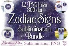 Zodiac Signs Sublimination Bundle - 12 PNG Files Product Image 1
