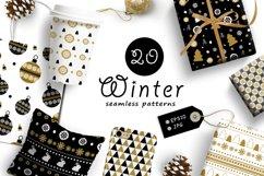 20 Winter seamless patterns Product Image 1