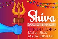 Shiva Trishul Illustration Product Image 1