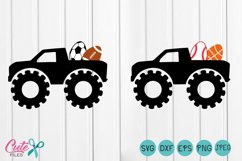 Monster Truck  svg, truck  egg sport, first easter svg, My First Hunting Season, cut file silhouette cameo Product Image 1