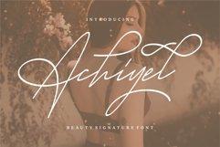 Achieyel - Beauty Signature Font Product Image 1