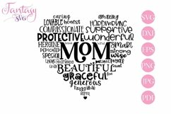 Mom Word Art - Svg Cut Files Product Image 1