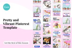 Pretty and Vibrant Pinterest Template Product Image 2