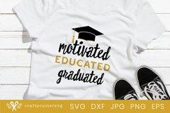 Graduated Svg Cut File| Graduation Cricut File Product Image 1