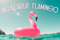Inflatable Flamingo Font Product Image 1