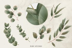 Bohemian Red Roses Leaves Country Wood Clipart Product Image 3
