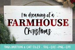 Farmhouse Christmas Sublimation & Cut Files Product Image 1