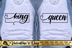 Valentines Day SVG Love Quotes SVG King Queen SVG Cut Files Product Image 1