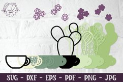 3D Cactus Mandalas, Layered Cactus, Papercut Succulent, DXF Product Image 3