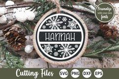 Christmas SVG | Snowflake SVG | Monogram SVG Product Image 1