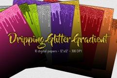 Halloween Glitter Drip Digital Paper Set Product Image 1