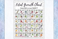 Printable Fetal Growth Chart Poster 2 JPG instant downloads Product Image 3