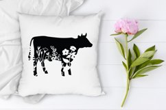 Floral Cow SVG, Flower Cow SVG Cut File, Floral Cow Clipart. Product Image 5