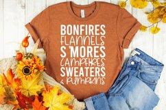 Fall Quote - Flannel Bonfires S'Mores Campfires Pumpkins Product Image 2