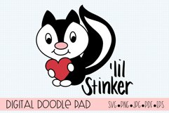 LiL Stinker Skunk SVG Cut Files for Cricut and Silhouette Product Image 1