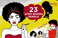 23 Afro Woman Svg Bundle - Afro Girl - Afro Queen Svg Product Image 1