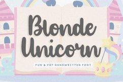 Blonde Unicorn Fun & Fat Handwritten Font Product Image 1