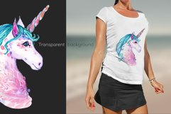 Hand painted watercolor illustration of Unicorn Product Image 9