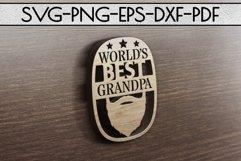 World's Best Grandpa Paper cut Template, Grandpa SVG, PDF Product Image 4