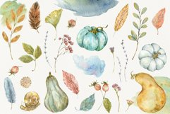 Autumn Time. Watercolor isolated cliparts Product Image 2