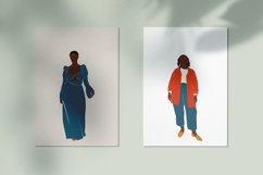 Curvy Woman, abstract clipart, black girl, Plus size Female, Product Image 4