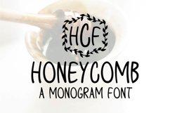 Honeycomb - A Monogram Font Product Image 1