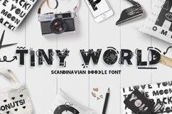 Tiny World! Scandinavian Doodle Font Product Image 1