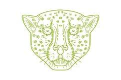 Cheetah Head Mono Line Product Image 1