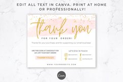 Thank You Card for Canva | Printable | Pink & Gold Product Image 4