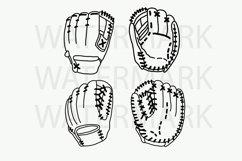 Baseball Gloves - SVG/JPG/PNG Hand Drawing Product Image 1