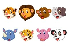 Set of Sixteen Cute Head Animals Bundle Product Image 2