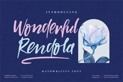 Wonderful Rendola - Beautiful Handwritten Font Product Image 1