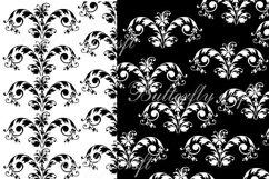 Damask Digital Paper, Black and White Damask Digital Product Image 3
