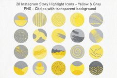 20 Abstract Instagram Story Highlight Icons - Yellow & Gray Product Image 4