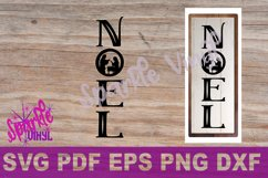Svg Christmas Noel Nativity sign stencil farmhouse style Christmas svg cut files for cricut sihouette, DIY Sign Stencil Product Image 1