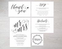 Wedding invitation set landscape, TOS_4 Product Image 3