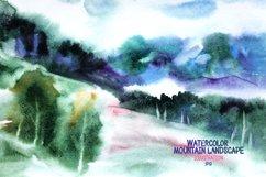 Watercolor mountain landscape Product Image 1