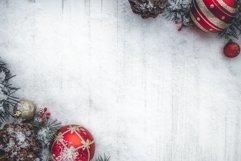 Christmas Flat Lay Background Product Image 1