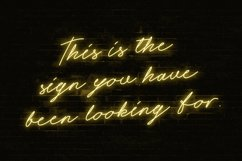 Night Light Neon Font - Script Product Image 6