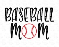 Baseball Mom and ball silhouettes. Hand drawn typography design. SVG DXF PNG EPS Cutting Files Product Image 5