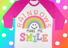 Rainbow svg - Summer svg - Girls svg - Unicorn svg - Smile svg - Magical svg - Sayings svg  Product Image 1